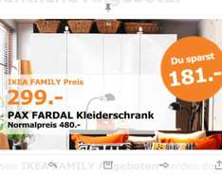 [Lokal Köln] Ikea Pax Fardal Kleiderschrank mit vier Türen 299€ statt 480€