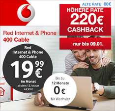 [Shoop] Vodafone Internet & Phone Kabel 400 incl Fritzbox 6490 für effektiv 21,24€/Monat @ 24 Monate