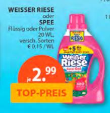 [Müller, Lokal Gießen, vielleicht Bundesweit] Flüßigwaschmittel Spee und Weisser Riese für 2,49€
