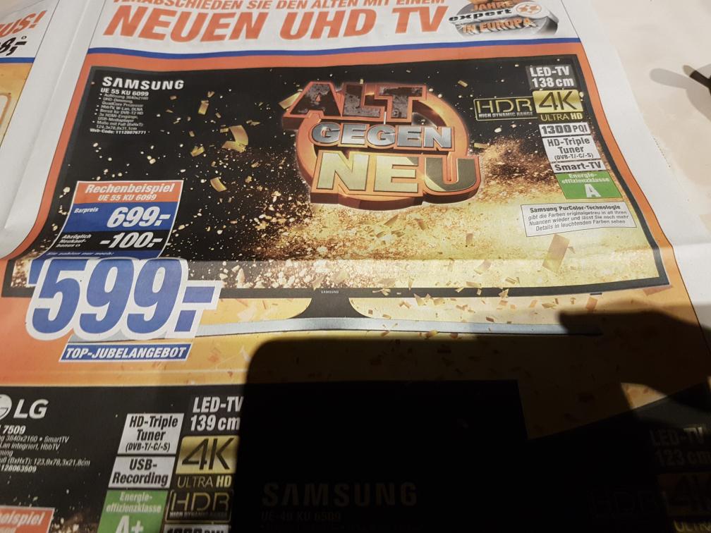 SAMSUNG UE55KU6099 [4K, HDR] für 599€, Expert
