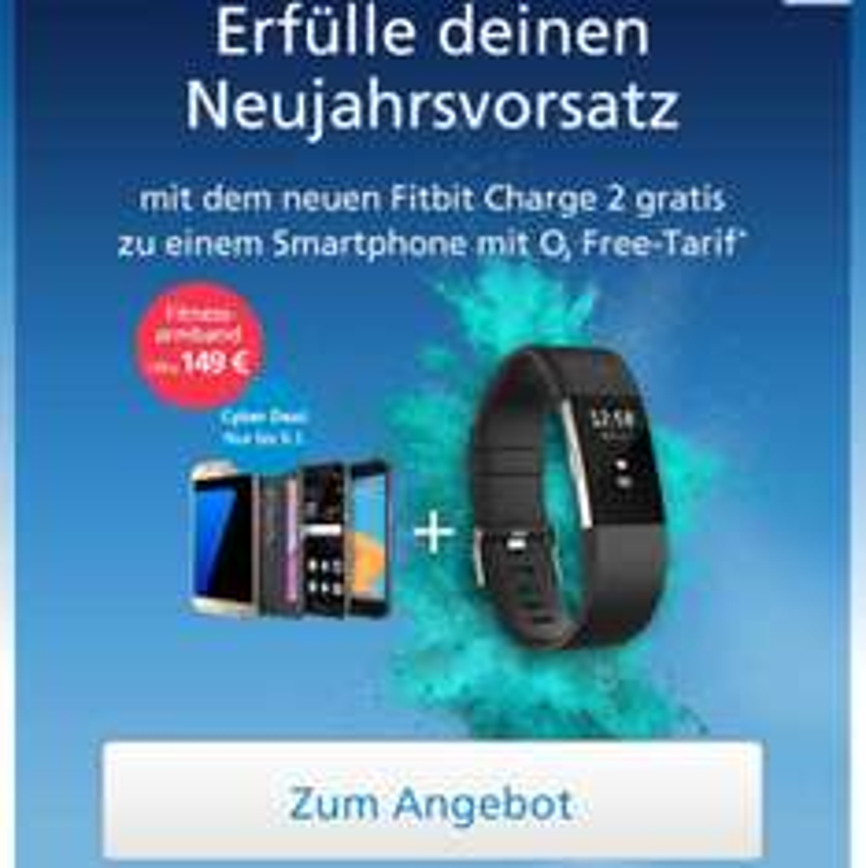 o2 Aktion : Fitbit Charge Gratis zu o2 free M SIM only oder bundles