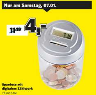 [Conrad Dortmund] Spardose mit digitalem Zählwerk 755002 für 4€ statt 10,67€