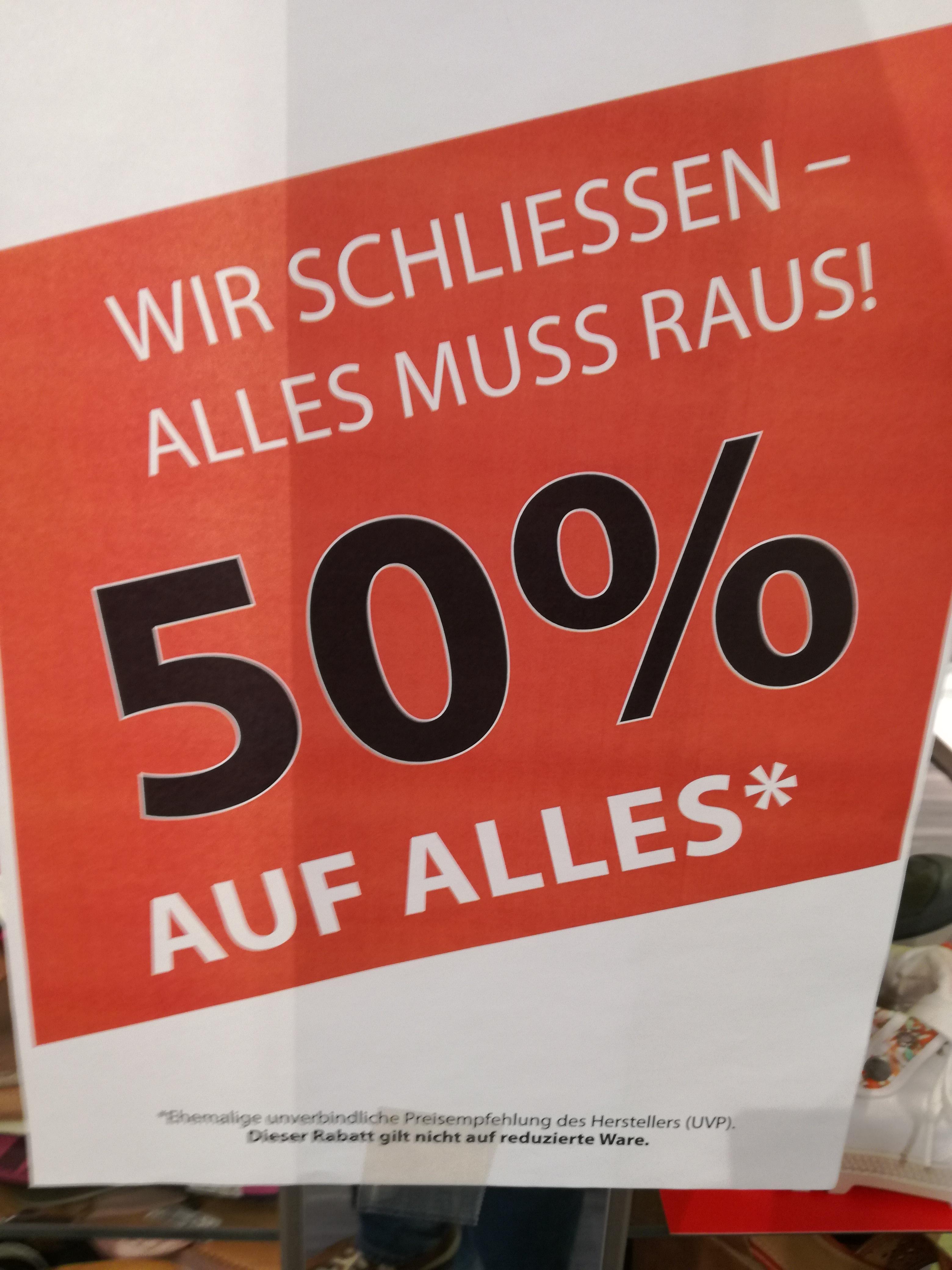 [lokal] Schuh Werdich 50% auf alles im Milaneo Stuttgart