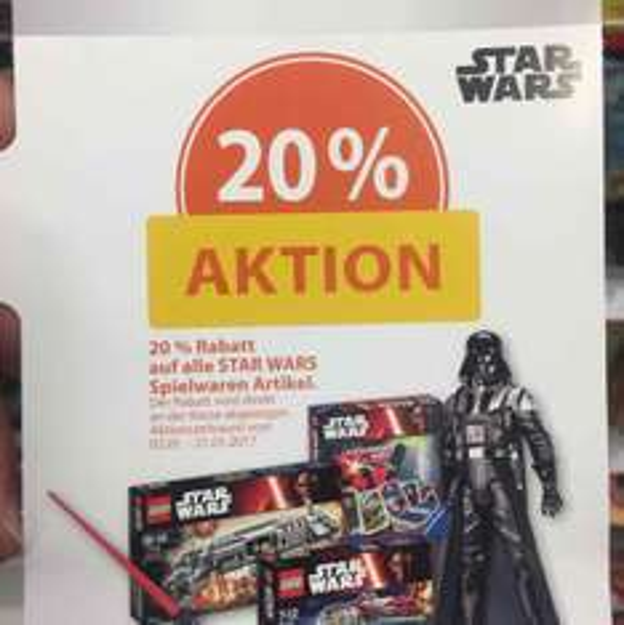 Bei Müller gibt's 20% Star Wars Offsale