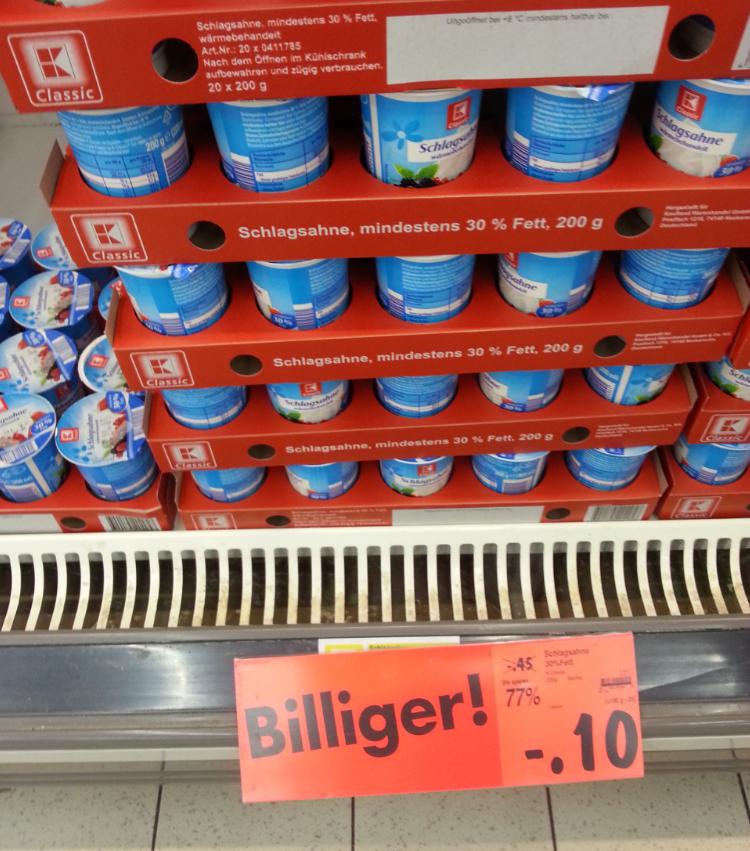 [Kaufland Stuttgart vlt. bundesweit] Leckere Butter 250g für 40 Cent (mit ein bisschen Aufwand)