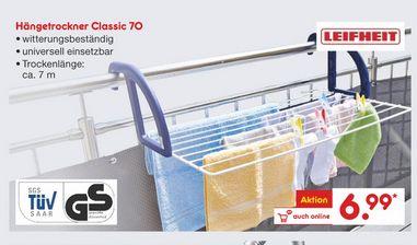 [Netto MD ab 12.01. (lokal / regional - MS ?)] Leifheit Hängetrockner Classic 70 für 6,99 (Idealo ab 13,90€)