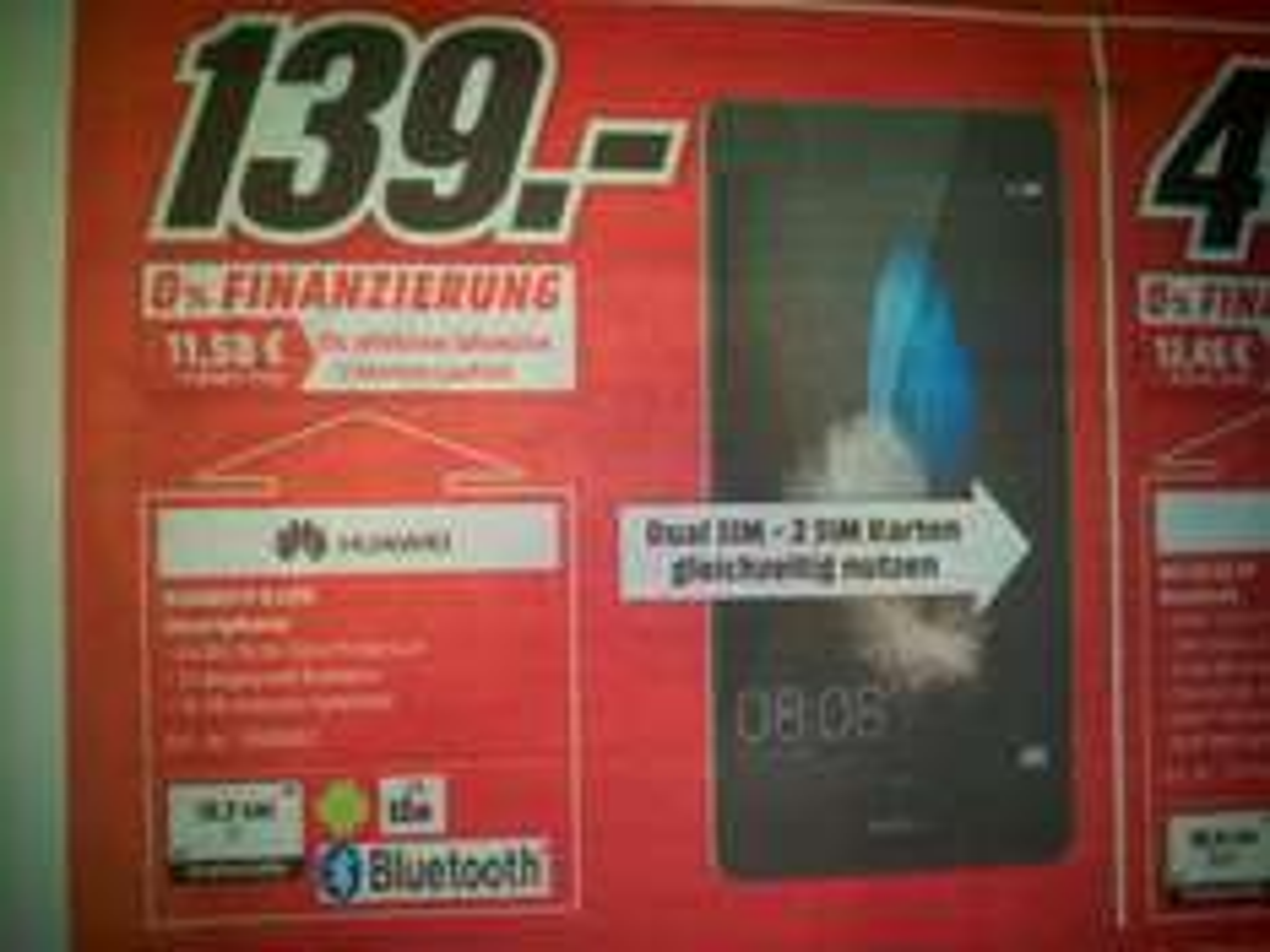 (Lokal) Media Markt Osnabrück Huawei P8 Lite Dual nur heute von 13-18 Uhr für 139€
