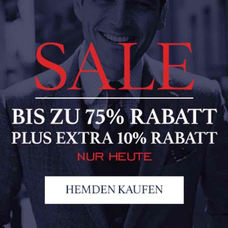 10% Extra Rabatt auf Sale Hemden bei Charles Tyrwhitt