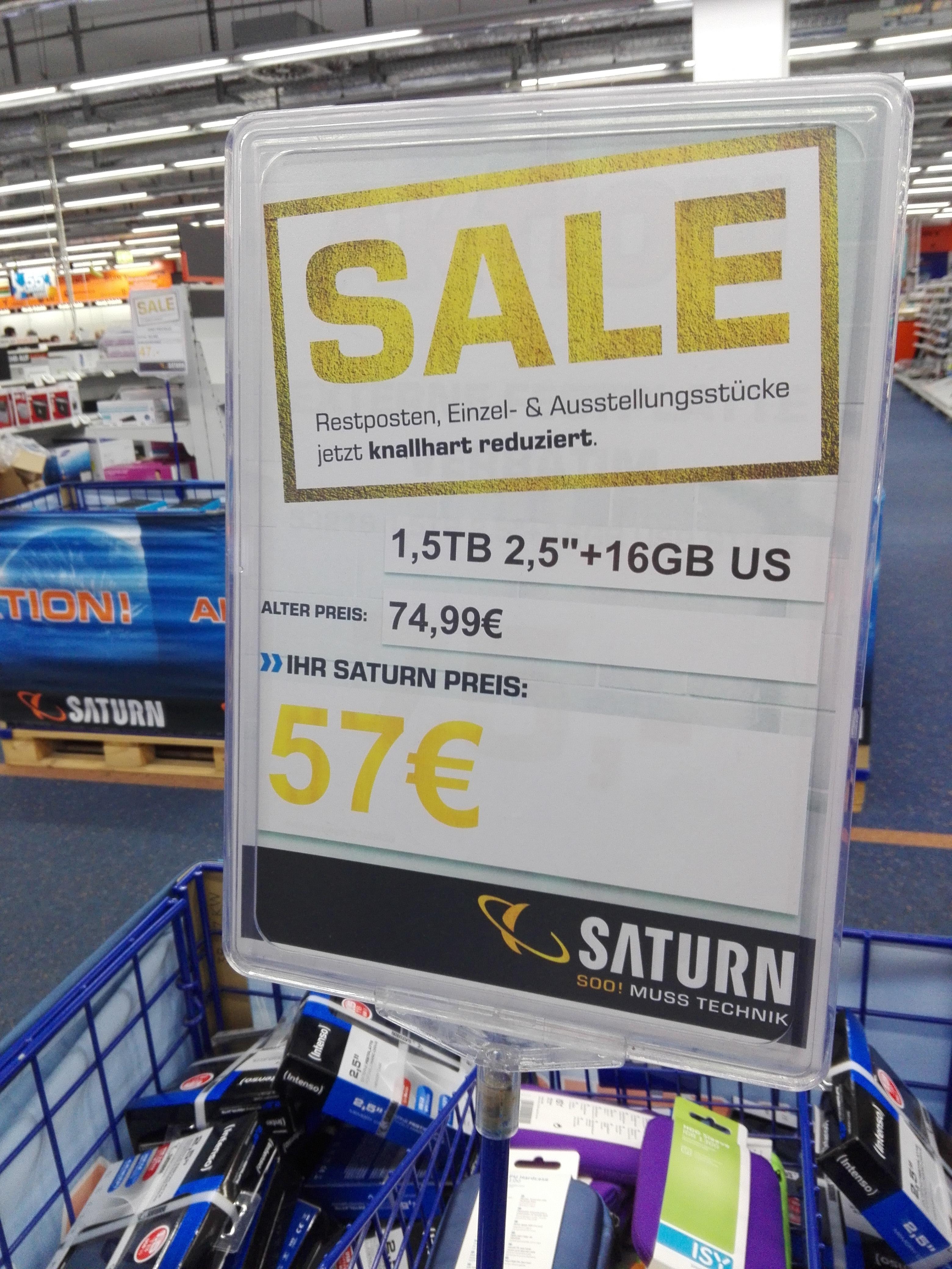 [Saturn Schweinfurt lokal] Verbatim Combo externe Festplatte (1.5TB) + USB Stick (16GB)