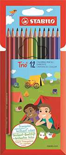 [Amazon Prime] STABILO Trio 12er Kunststoffetui - Dreikant-Buntstift