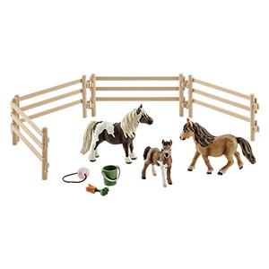 Schleich™ - Shetland-Ponys auf der Wiese (41435) (10-tlg.) ab €12.- [@Real.de]