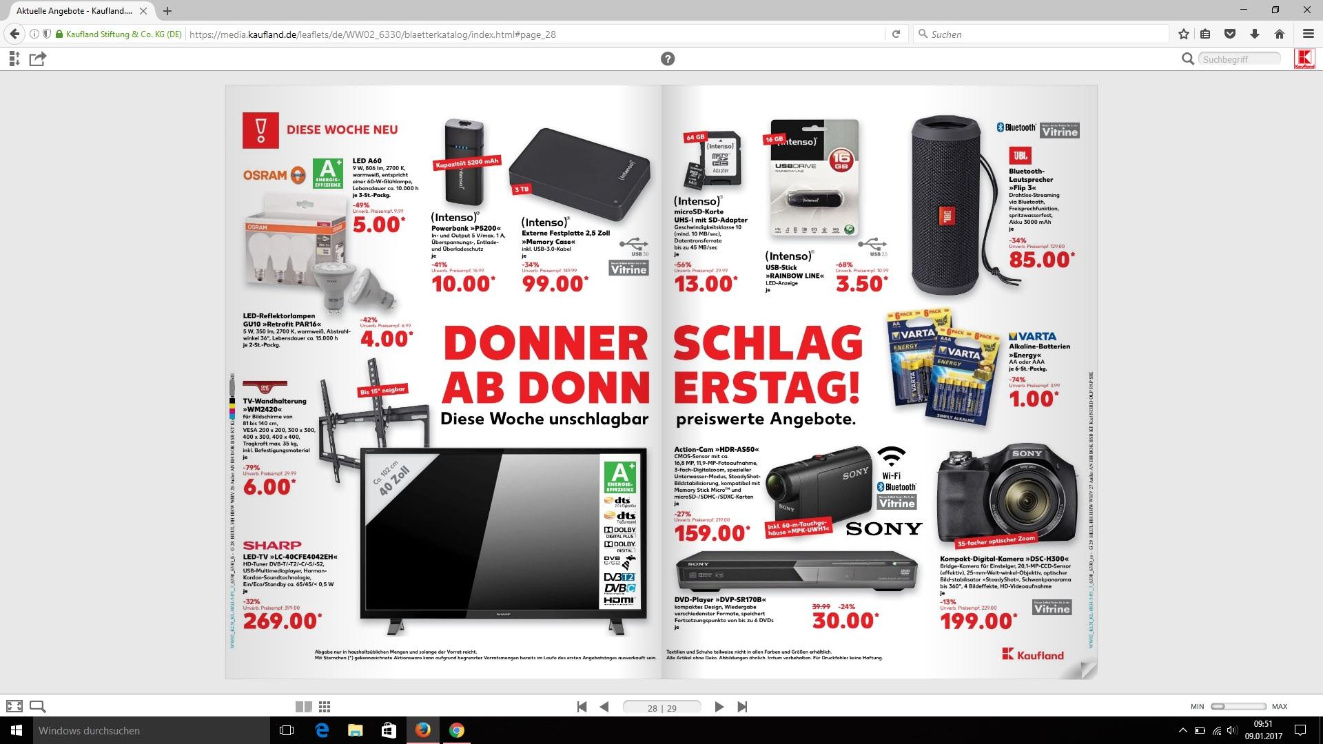 Kaufland Osram Led E 27 9W 3 Stück für 5 € bundesweit
