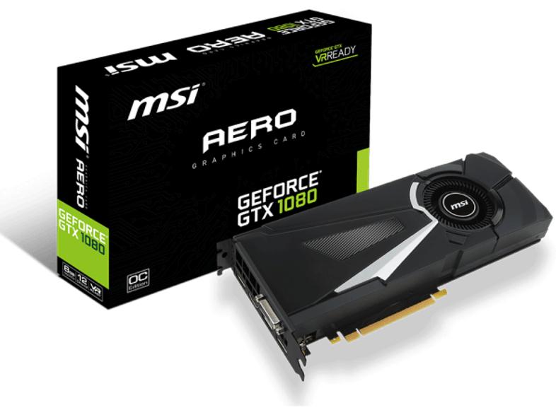 MSI Geforce GTX 1080 Aero 8G OC für 594,50€ inkl. Versand nach DE [Saturn.at]