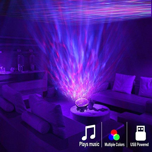 [Amazon Prime] Nachtlicht Projektor mit integriertem Lautsprecher in Weiß oder Schwarz
