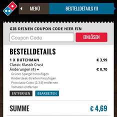 Dominos Klassiker Angebot pimpen