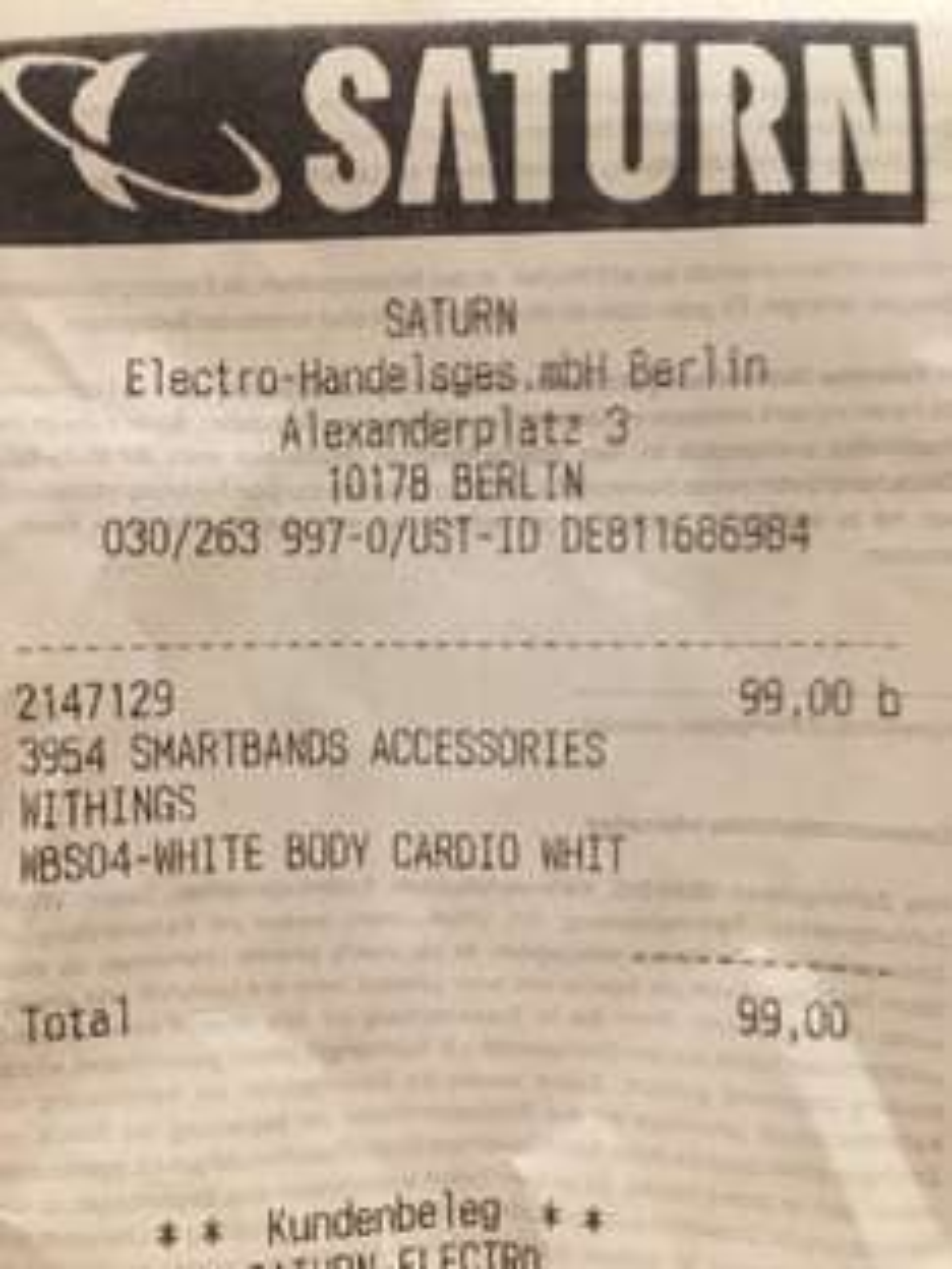 LOKAL Saturn Alexanderplatz - Withings Body Cardio