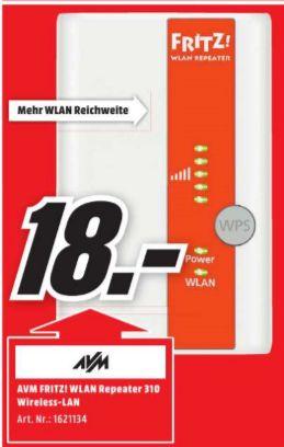 [Lokal Mediamarkt Halle-Peißen / Weitere Angebote] AVM FRITZ!WLAN Repeater 310 für 18,-€***Logitech G430 Headset für 38,-€***Sony ZX220BT Bluetooth Kopfhörer für 48,-€***Senseo Pads Verschiedene Sorten für 1,-€