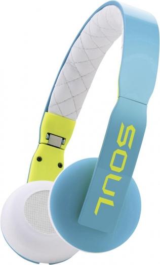 [Digitalo] SOUL HiFi Kopfhörer Loop On Ear Faltbar, Lautstärkeregelung, Leichtbügel Türkis, Weiß
