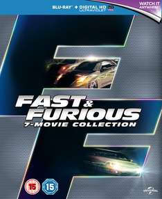 Fast & Furious 1-7 Collection (Blu-Ray) für 21,59 € [zavvi.com] - PVG ~35€ (Ton: EN, Teil 7 auch DE)