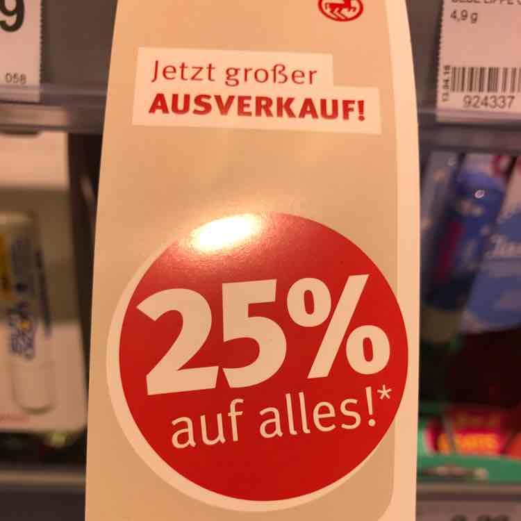 lokal: Berlin Rossmann 25% auf Alles