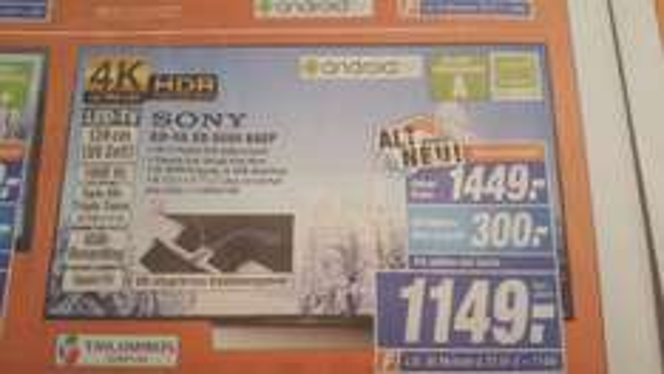 [Lokal] Expert Xanten: Sony KD-55 XD 8599 BAEP