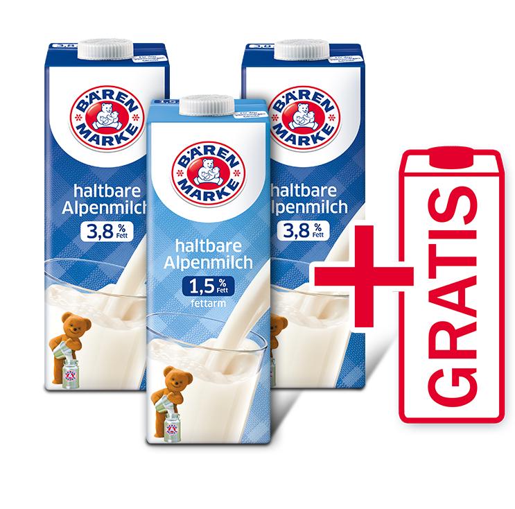 Bärenmarke - 3x H-Milch kaufen & als Dankeschön ein Bärenmarke-Produkt nach Wahl gratis erhalten / 3x pro Person einlösbar