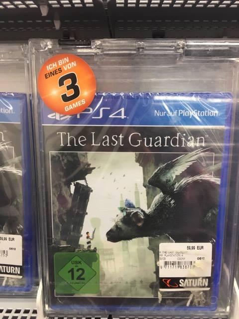 [Lokal? Saturn Bremerhaven] The Last Guardian PS4 18,33€ (3 für 55€ Aktion)