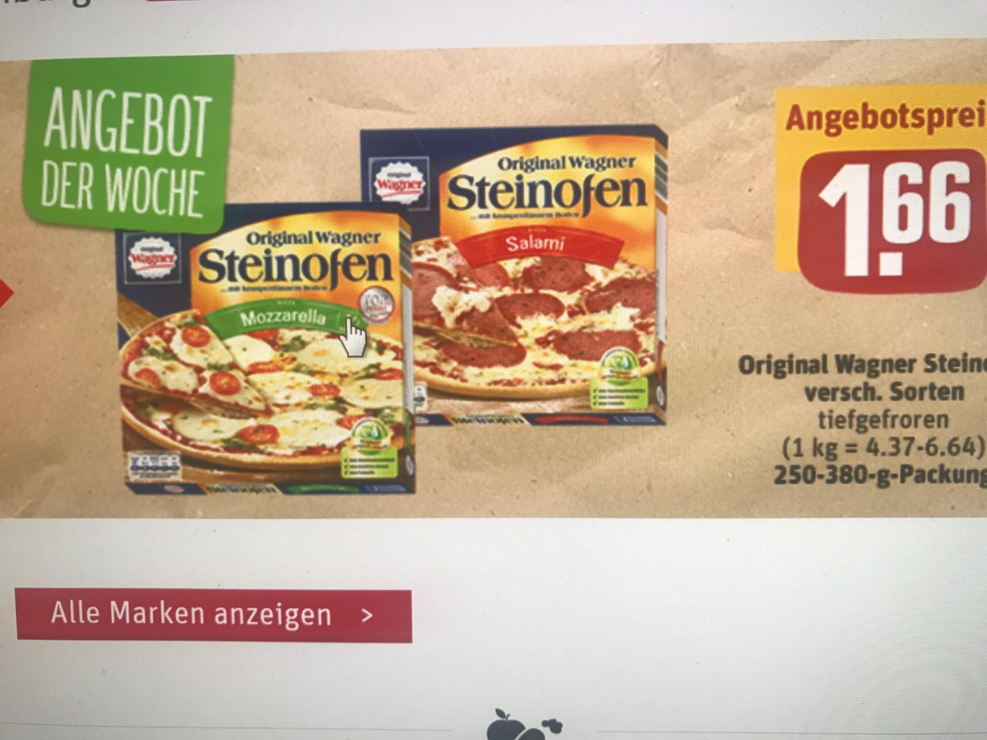REWE lokal und online...Wagner Steinofenpizza für 1,66