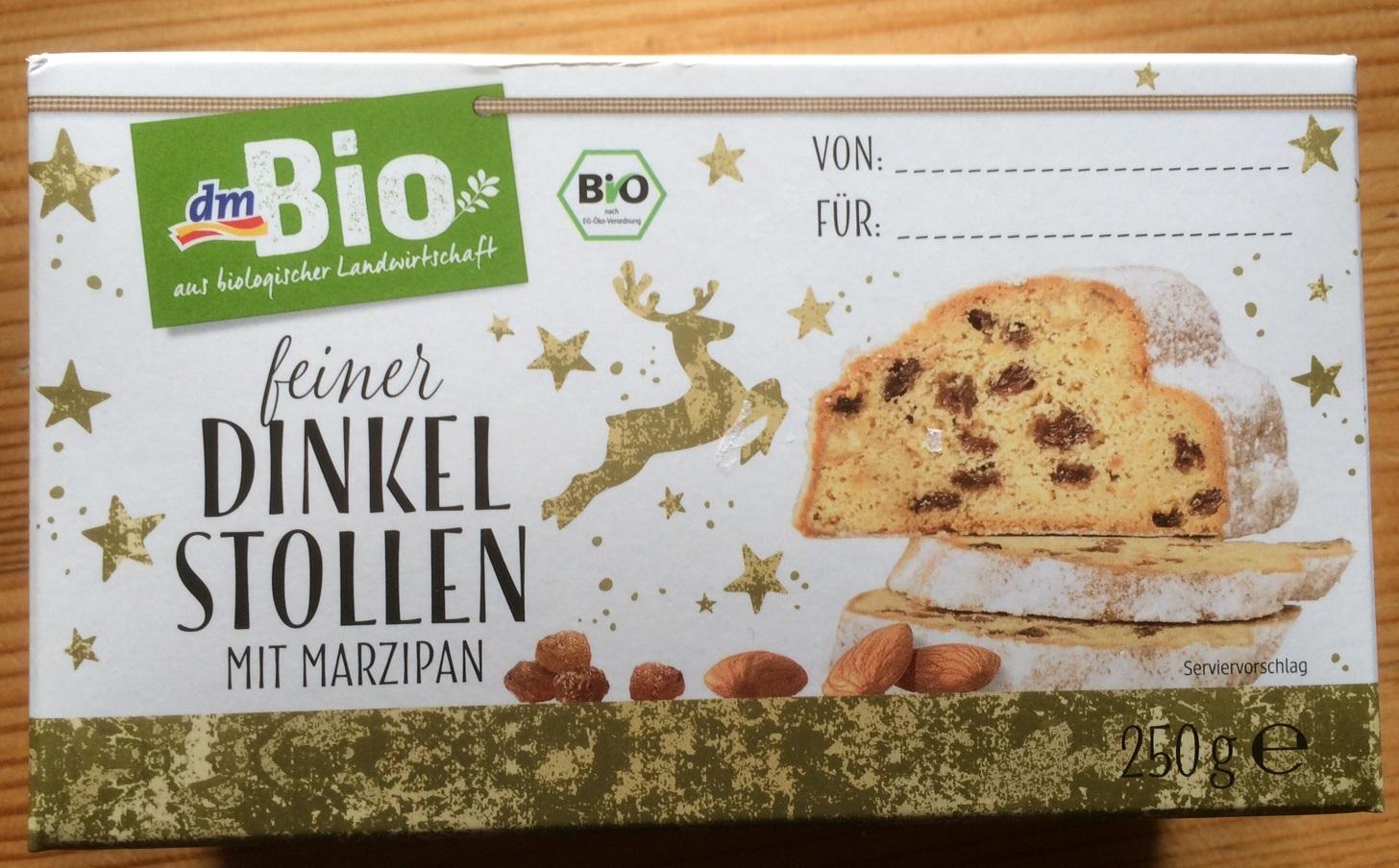[Lokal Dresden] dm-drogerie markt: Bio Dinkel Stollen mit Marzipan