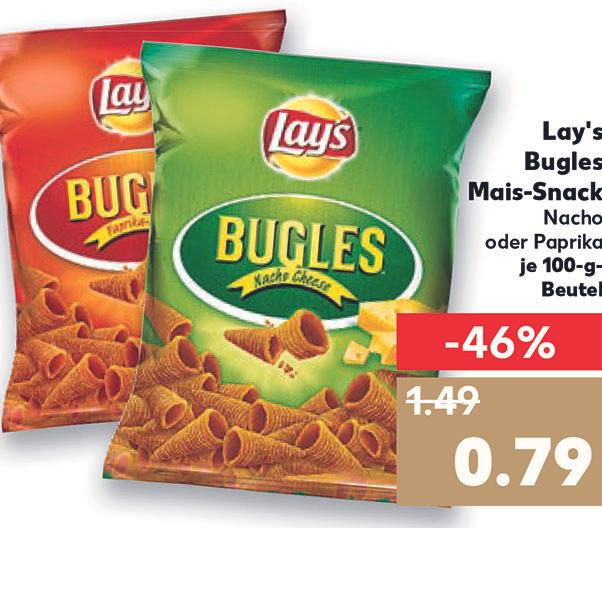 Lay's Bugles Mais-Snack für nur 79 Cent (Kaufland)