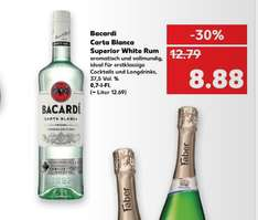 Kaufland ab 23.01 Barcardi Carta Blanca White Rum  0,7L