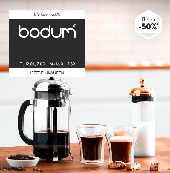 But first, coffee! Bis zu 50% Rabatt auf Kaffeebereiter etc. von Bodum bei brands4friends