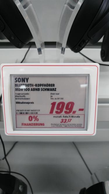 [Mediamarkt Berlin-Tegel] Sony MDR-100ABN