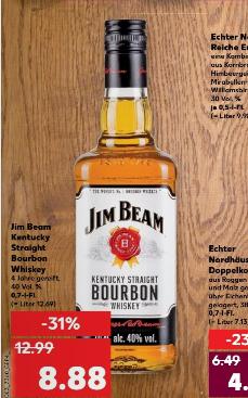 Kaufland ab 19.01 Jim Beam 0,7 Liter