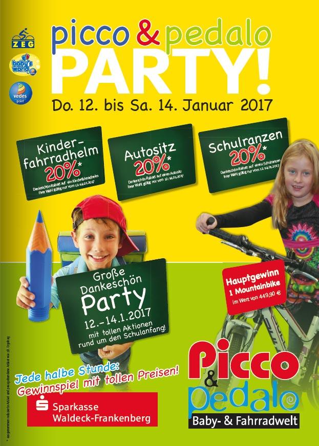 [lokal Korbach] Picco & Pedalo 20% auf Kindersitze, Fahrradhelme und Schulranzen