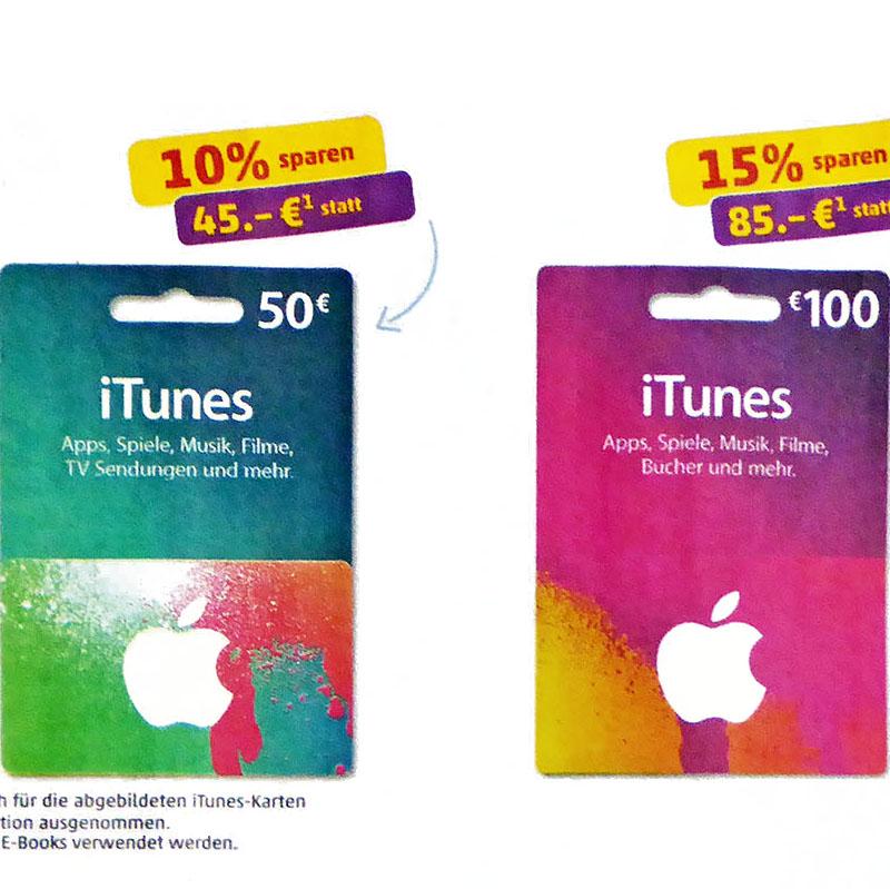 iTunes Guthaben 85€ statt 100€ somit 15% gespart @Penny