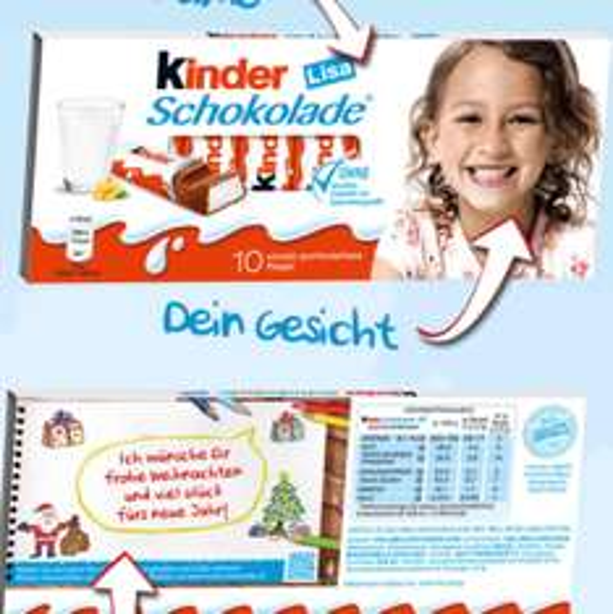 Persönliche Kinderschokolade gestalten, dein Gesicht auf der Verpackung