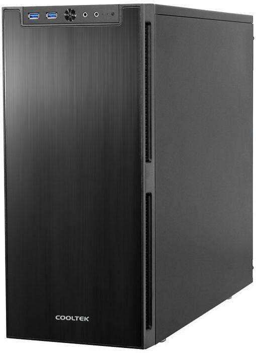 Cooltek Antiphon PC-Gehäuse (ATX, schallgedämmt, Kabelmanagement, Staubfilter, Lüftersteuerung) für 55,94€ [Mindfactory]