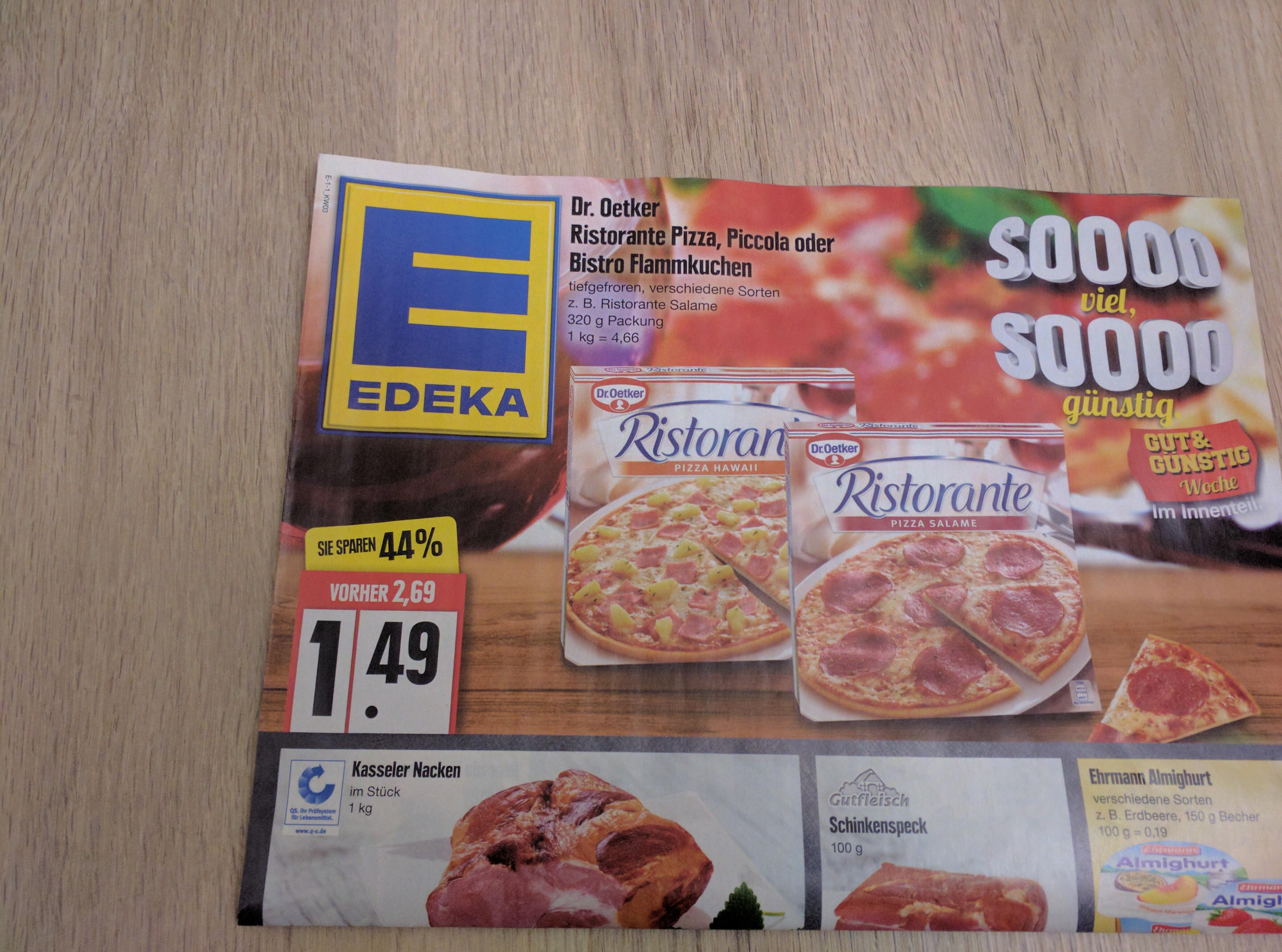[lokal HH] Dr. Oetker Ristorante Pizza, Piccola oder Flammkuchen