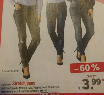 Damen Stretchjeans 3,99 Eur bei Lidl (im Laden und online)