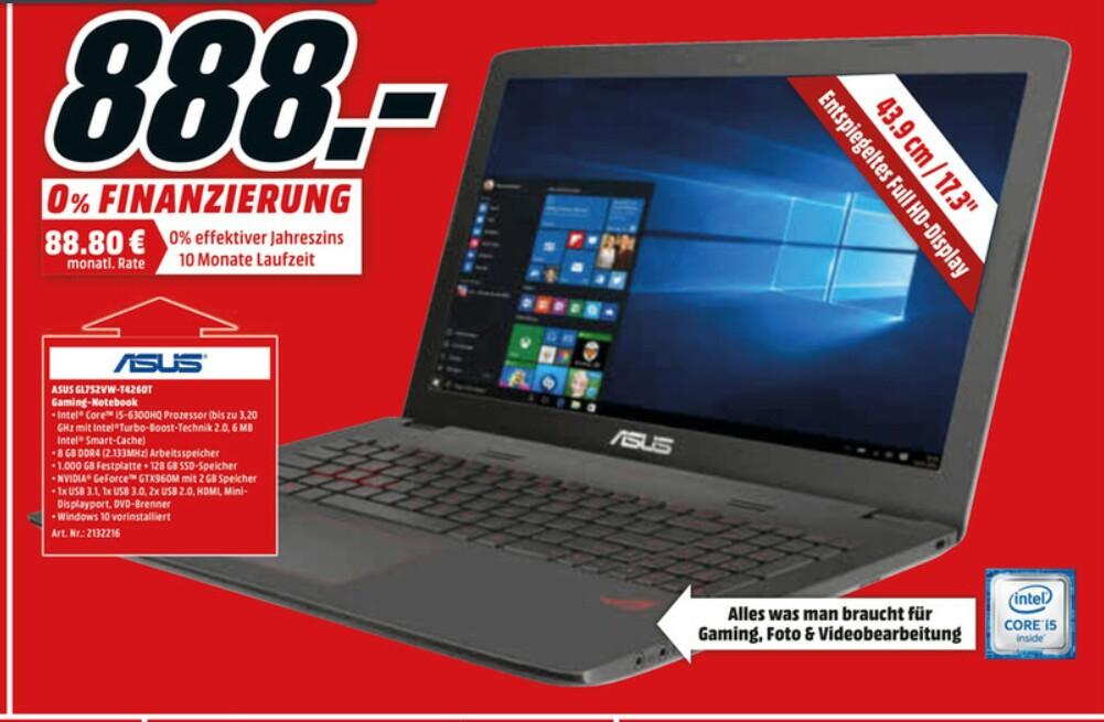 ASUS ROG GL752VW-T4260T Gaming Notebook (Media Markt Berlin)