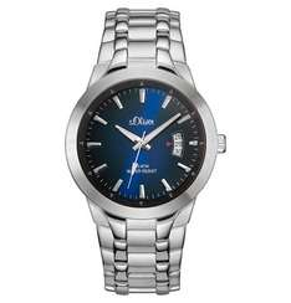 s.Oliver Herren-Armbanduhr XL Analog Quarz Edelstahl SO-2823-MQ für 39,99 (zusätzlich 10% Rabatt möglich)