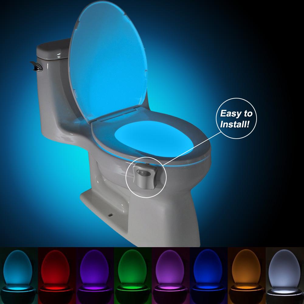 Toiletten-LED-Beleuchtung mit 8 Farben und Bewegungsmelder bei GearBest