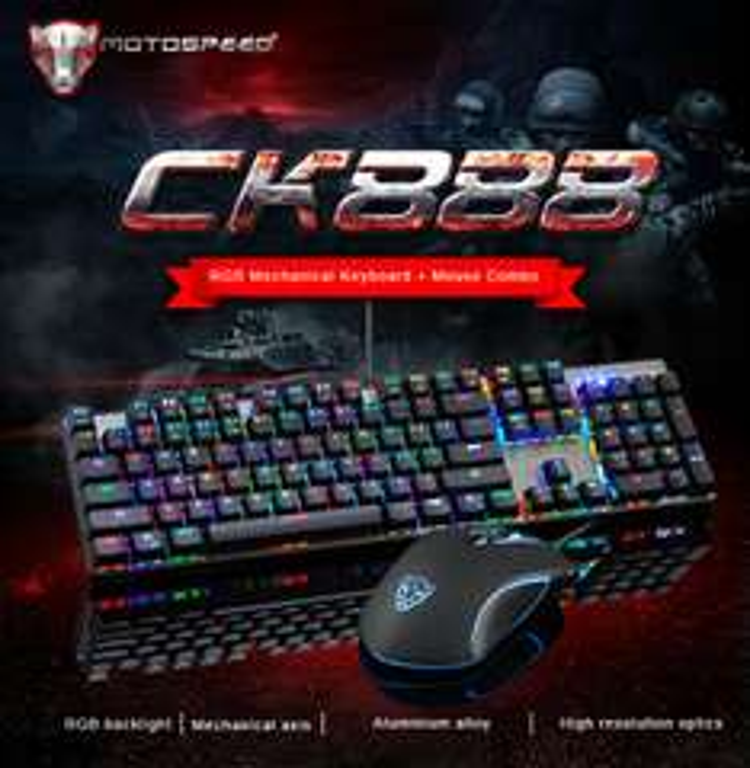 CK888 Mechanische Tastatur + Maus V30 / beides Beleuchtet