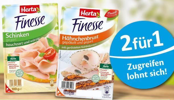 2 Herta Finesse Produkte kaufen, Geld für ein Produkt zurück via Kassenbonupload