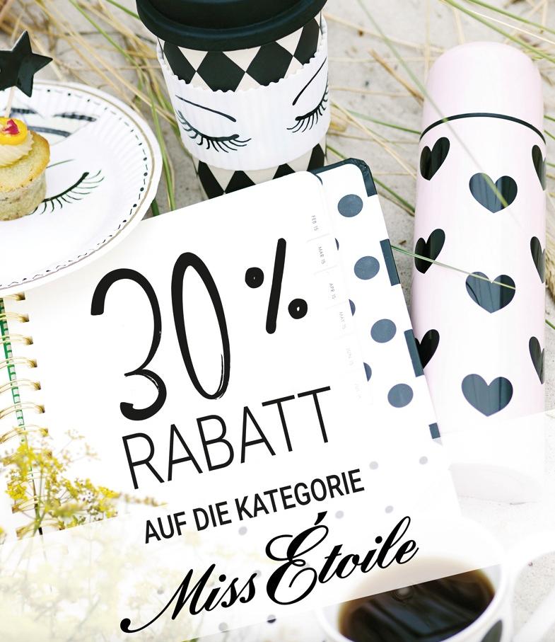 30% Rabatt auf alle Produkte von Miss Étoile bei Sylter Wohnlust
