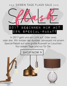 es werde licht 25 flash sale auf beleuchtung 10 nl gutschein ab 75 mbw bei impressionen. Black Bedroom Furniture Sets. Home Design Ideas