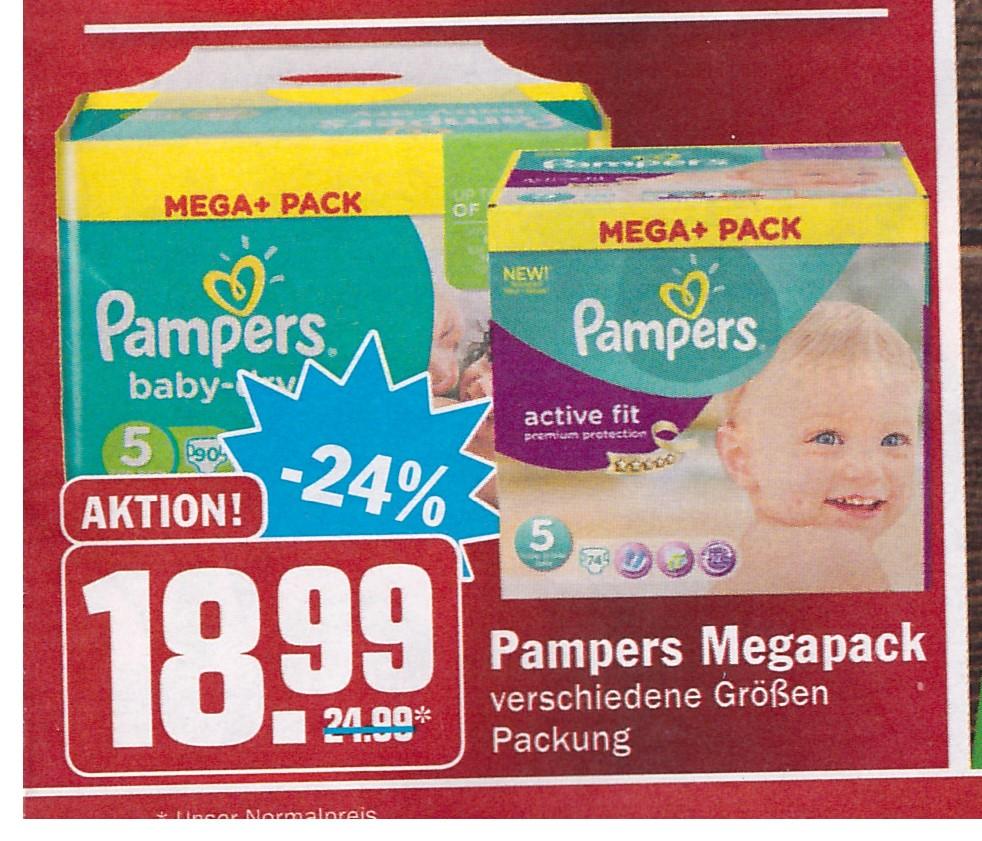 Pampers Mega Pack bei Hit für 15,99 nach Rabattabzug