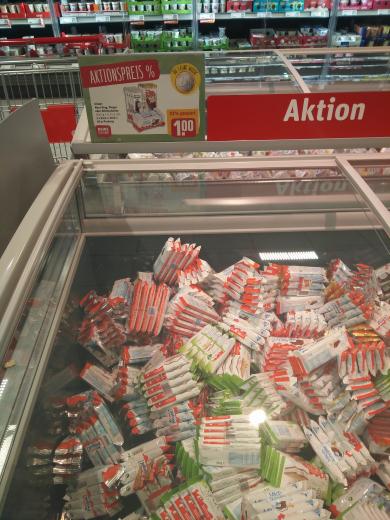 Bundesweit Rewe Kinderpingui, Milchschnitte, Maxi-King