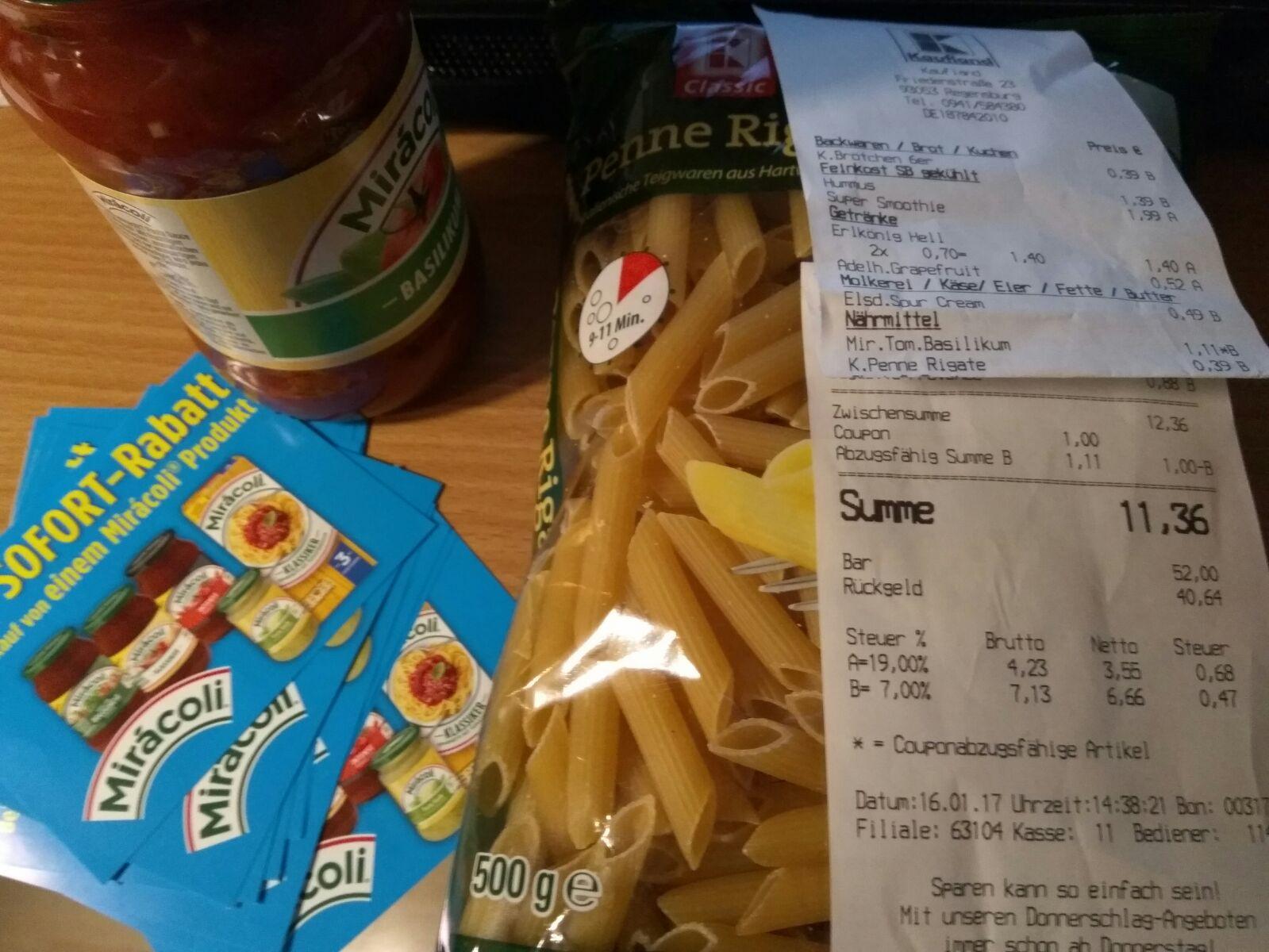 [RGB] K - Classic Pasta 20% statt 0,49 € nur 0,39 € + Gewinnspiel - womöglich auch Bundesweit